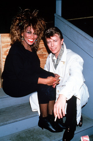 Tina with David Bowie