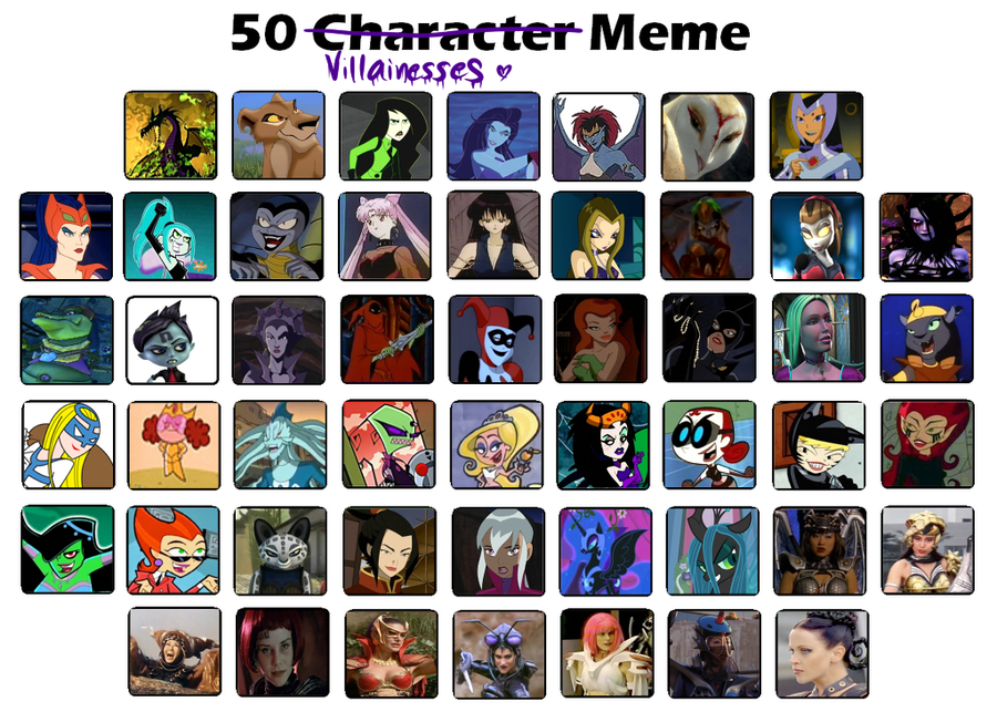 вверх 50 Villainesses