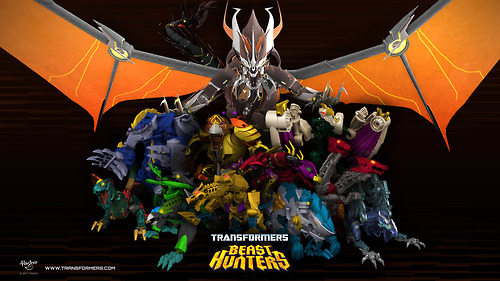 Zufällig Hintergrund possibly with a tepee and a circus tent entitled Transformers Prime: Beast Hunters Predacons