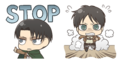 Transparent chibi Levi And Eren