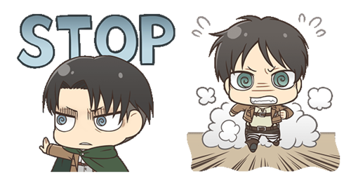 Shingeki no Kyojin (Attack on titan) wallpaper probably with anime titled Transparent Chibi Levi And Eren