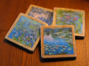 transporter, van Gogh Marble Coasters