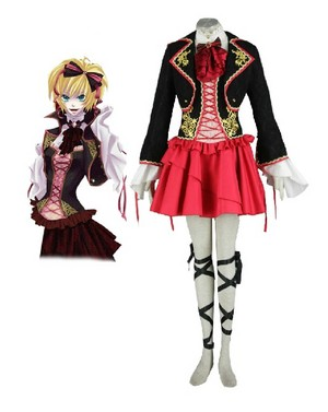 Vocaloid Kagamine Rin cosplay costume outfits