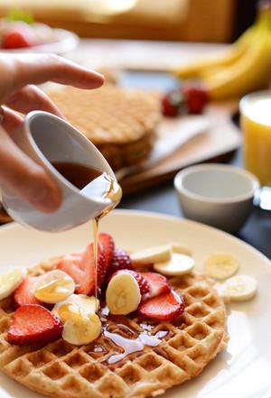 bánh quế, bánh kem sữa waffle