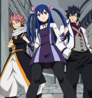 Wendy Marvell, Natsu Dragneel, and Gray Fullbuster