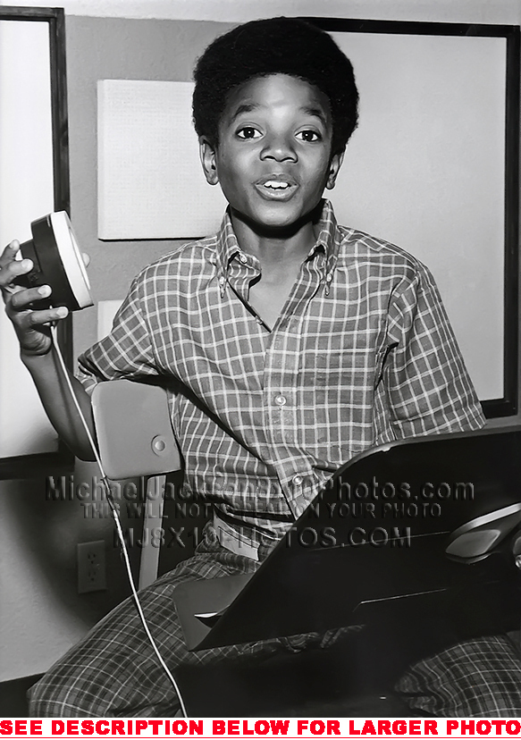 Young Michael In The Recording Studio