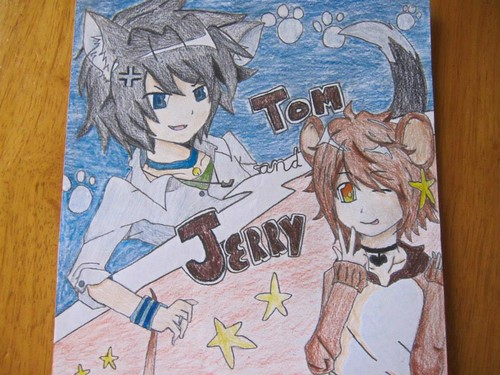 Anime Drawing Hintergrund with Anime entitled Anime form of tom and jerry