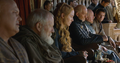 cersei with tywin, jaime, mace and varys