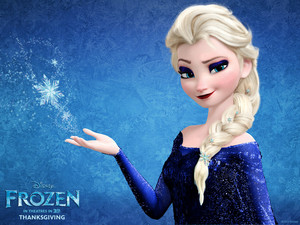 elsa turns blue