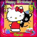 happy birthday - hello-kitty fan art