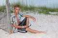 justin bieber look alke model at the beach!