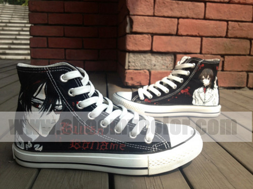 Vampire Knight karatasi la kupamba ukuta containing a running shoe titled kaname kuran shoes