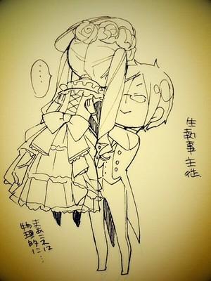kuroshitsuji scribbles oleh toboso yana