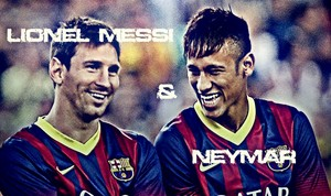 lionel messi nd Neymar jr.