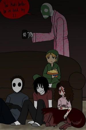 movie night with the creepypastas