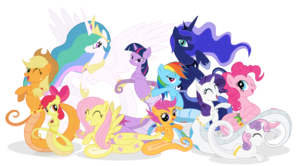 my little lamia ponies
