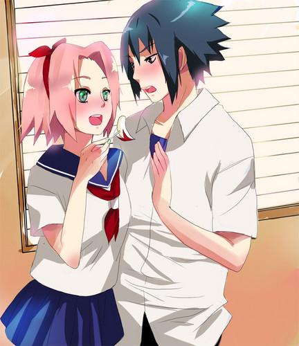 Naruto Couples ♥ achtergrond titled **SasuSaku**