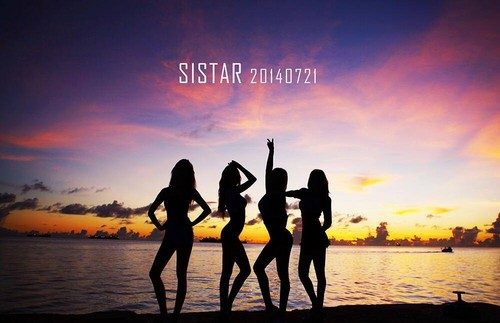 SISTAR (씨스타) 壁紙 with a sunset called SISTAR comeback teaser image