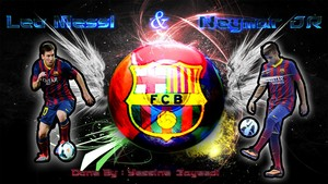 Neymar nd messi barcelona
