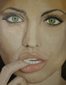 oil painting - angelina-jolie fan art