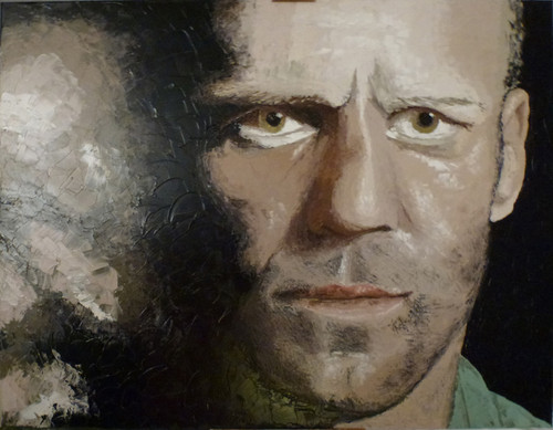 Jason Statham hình nền titled oil painting