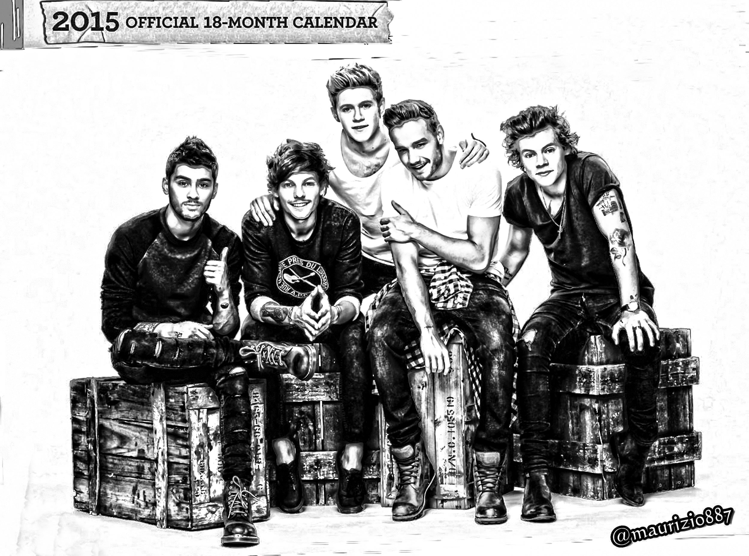 One Direction Images One Direction Official Calendar 2015 Hd