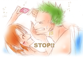 zoro nami one piece i - nami-and-zoro fan art