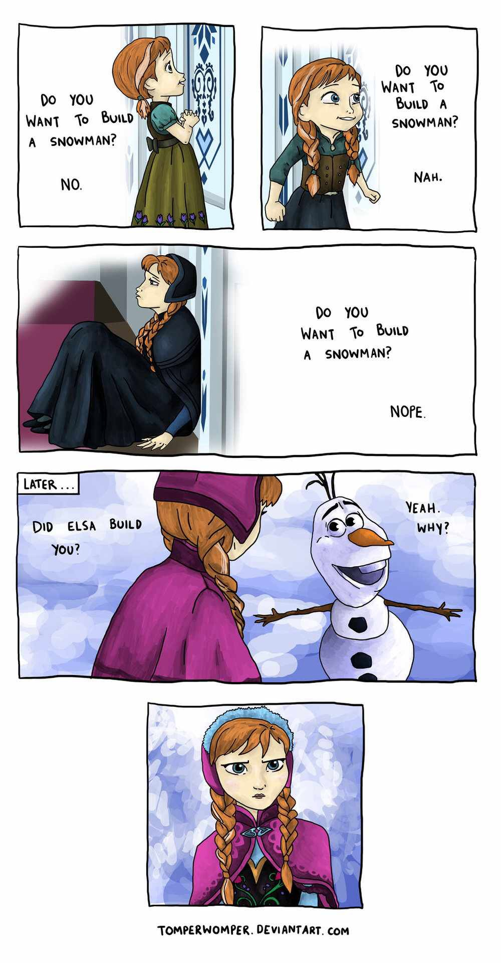 """Do آپ want to build a snowman?"""