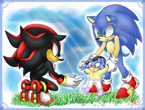 Sonadow wallpaper possibly containing anime called .:. Family Time ♡.:.