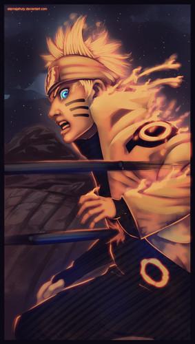 Uzumaki Naruto (Shippuuden) Hintergrund containing Anime entitled *Naruto Got Hit*