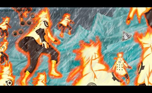 Uzumaki Naruto (Shippuuden) Hintergrund containing Anime titled *Naruto v/s Kaguya*