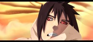 *Sasuke Caught In Kaguya's Dimension*