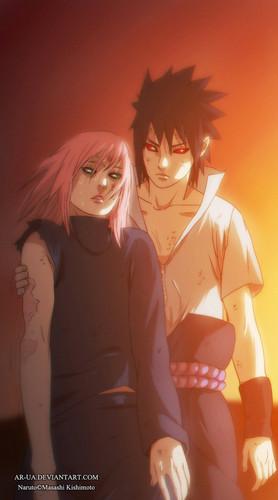Naruto Shippuuden: Sasuke lovers wallpaper titled *Sasuke Caught Upto Sakura*