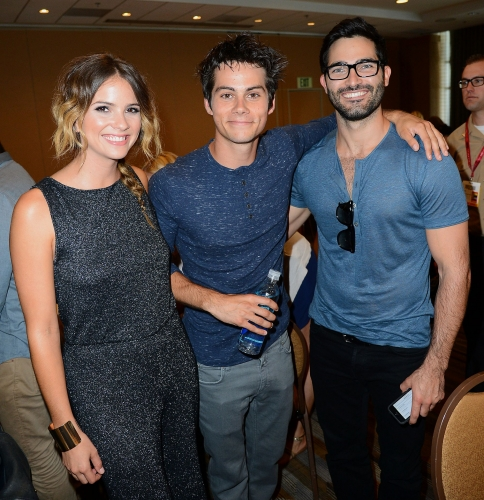 Teen mbwa mwitu karatasi la kupamba ukuta called Shelley Hennig,Dylan O'Brien and Tyler Hoechlin