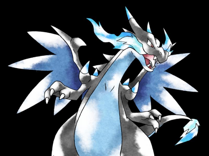 Mega Charizard X Von Tomycase Pokemon Hintergrund