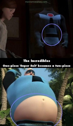 A mistake in the incredibles