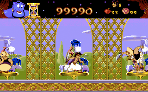 Aladdin wallpaper with a chainlink fence titled Aladdin Video Game