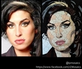 Amy Winehouse Portrait Mosaic.