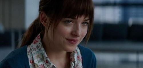 Fifty Shades of Grey karatasi la kupamba ukuta containing a portrait titled Anastasia Steele