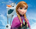 Anna and Olaf kertas dinding