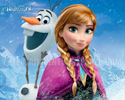 Frozen wallpaper called Anna and Olaf wallpaper