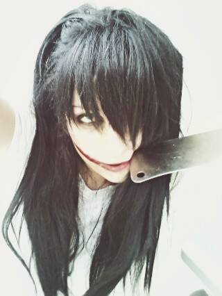 Jeff the killer hình nền with a cleaver called Aren't I Beautiful ?