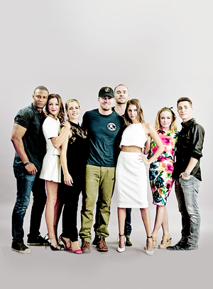 Arrow Cast At Comic-Con