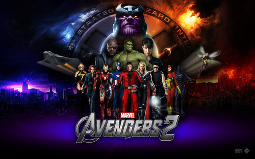 The Avengers wallpaper probably containing a concert and anime called Avengers 2 Age of Ultron
