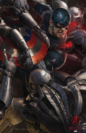 Avengers: Age Of Ultron - Captain America Poster Art