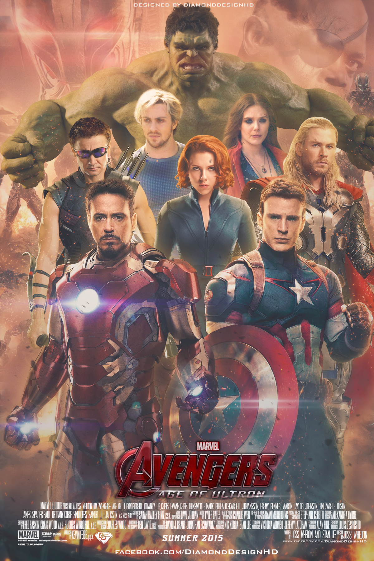 Avengers: Age Of Ultron (FAN MADE) Poster - Marvel Comics ...
