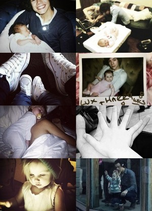 Awww Harry and Baby Lux