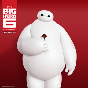 Baymax With a Rose