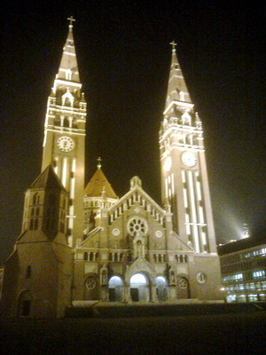 Beautiful church in the city of Szeged