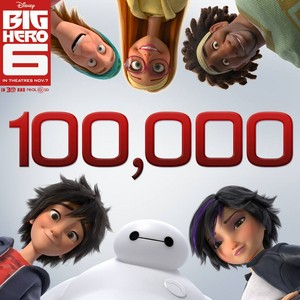 Big Hero 6 reached 100.000 page likes on Facebook!
